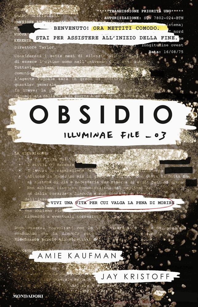 """""""Obsidio"""" in libreria dal 30 Ottobre!"""