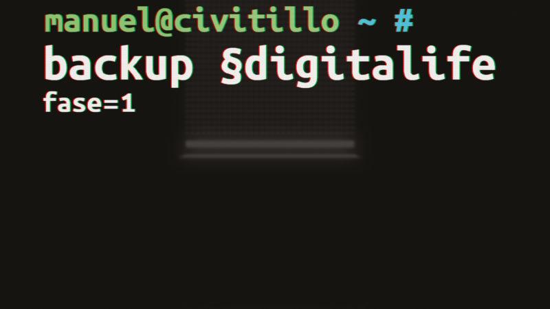 Backup §digitalife: Fase 1 – Manuel Civitillo